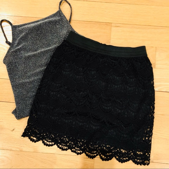 Charlotte Russe Dresses & Skirts - Black Lace Skirt